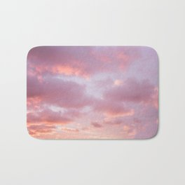 Unicorn Sunset Peach Skyscape Photography Bath Mat