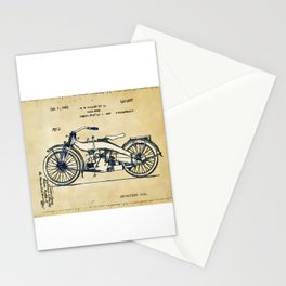 HD Motorcycle Patent - Circa 1924 Stationery Cards