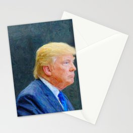 Portrait  of President Donald Trump Stationery Cards