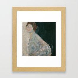 Lady in white Framed Art Print
