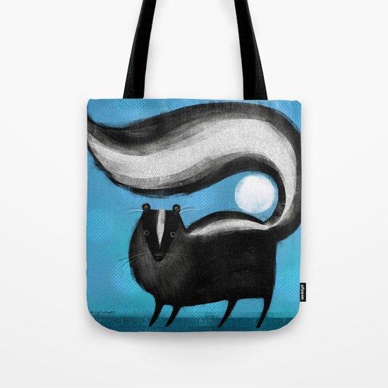 SKUNK ON BLUE Tote Bag