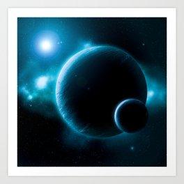 Deep Space Blue Art Print