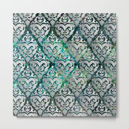 Persian Oriental  pattern abalone and pearl Metal Print
