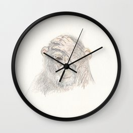 Concerned Monkey Wall Clock