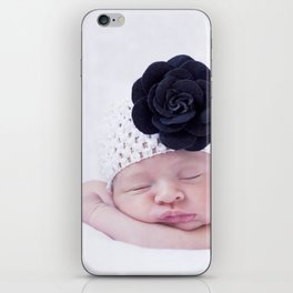 Baby with flower iPhone Skin