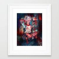 harley quinn Framed Art Prints featuring Harley Quinn by M Alcaraz