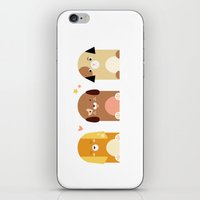 puppies iPhone & iPod Skins featuring Twin Puppies by Gabriella