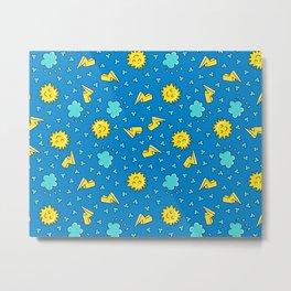 Happy Sky -  sleepy Sun Metal Print