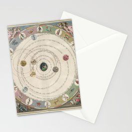 Keller's Harmonia Macrocosmica - Planisphere of Aratus 1661 Stationery Cards