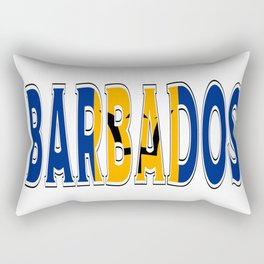 Barbados Font with Barbadian Flag Rectangular Pillow