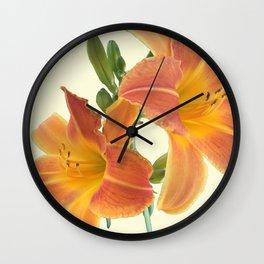 Garden Blooms - Orange Alone Wall Clock