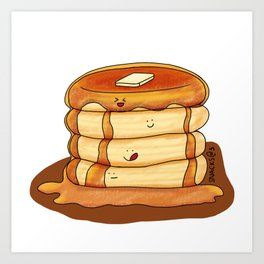 Pancakes with syrup and butter Art Print