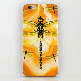 DRAGONFLY IN AGATE iPhone Skin
