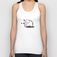 baby elephant Tank Tops featuring Baby Elephant by TheMadKey