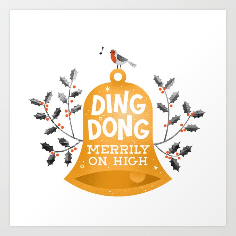Ding Dong Merrily On High Art Print by Wharton PRN8269307