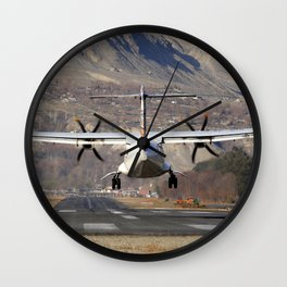 ATR ATR-42-500 Aviation Scenic Dangerous No way out Landing aircraft Wall Clock