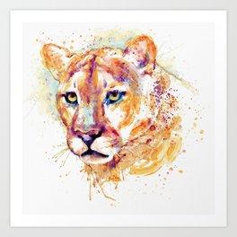 Cougar Head Art Print