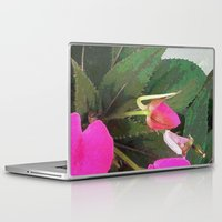 hot pink Laptop & iPad Skins featuring Hot Pink by Glenn Designs