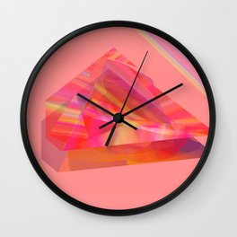 pinky piramides Wall Clock