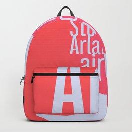 ARN Stockholm Arlanda airport pink Backpack