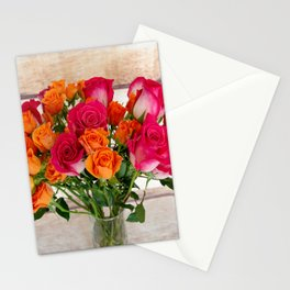Colorful Rose Bouquet Stationery Cards