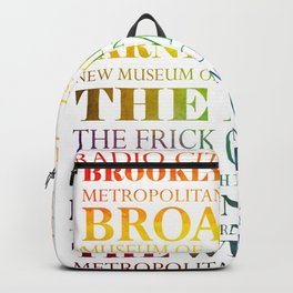 New York City - arts in color Backpack