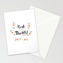 Rest and Be Thankful Stationery Cards