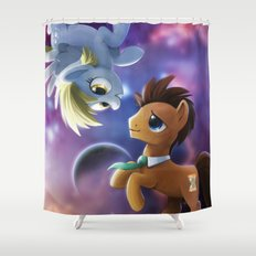 Whooves and Derpy Shower Curtain