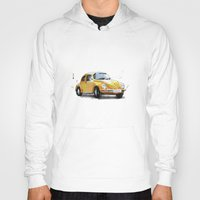 vw Hoodies featuring VW Beetle by Carlos Quiterio