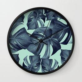 Monstera Leaves Pattern #10 #tropical #decor #art #society6 Wall Clock