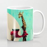 giraffe Mugs featuring Giraffe by Ali GULEC