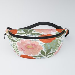 Pions and Poppies Fanny Pack