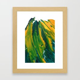 Wings Collection orange/green Framed Art Print