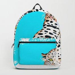 Leopard King Ink Blue Backpack