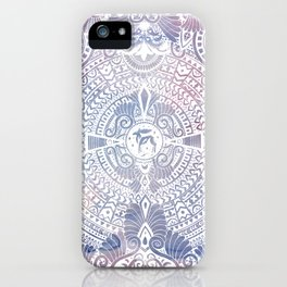 deer mandala (white) iPhone Case