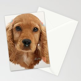 Golden Cocker Spaniel Pup Stationery Cards