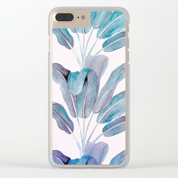 Leaves Clear iPhone Case