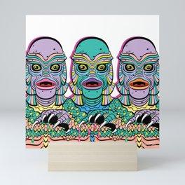 Creature from the Black Lagoon in pastel goth Mini Art Print