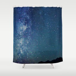 Milky Way Over the Tetons Shower Curtain