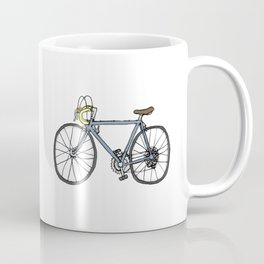 Vintage Bicycle (original blue + yellow) Coffee Mug