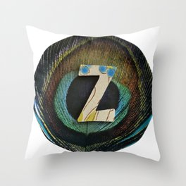 Love Letters to Dinnerware - Z Throw Pillow