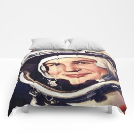 Rubino Valentina Tereshkova First Woman in Space Painting Comforters