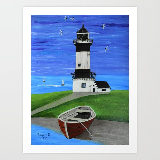 Lighthouse 4 Art Print