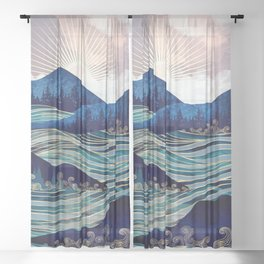 Ocean Sunrise Sheer Curtain