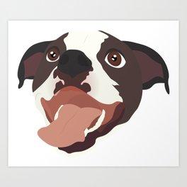Pitbull Puppy Art Print