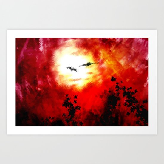 Hot summer in abstract nature. Art Print