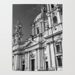 Piazza Navona, the ancient Stadium of Domitian, in Rome, Italy. Poster