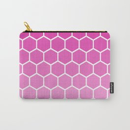 Fuchsia pink gradient honey comb pattern Carry-All Pouch