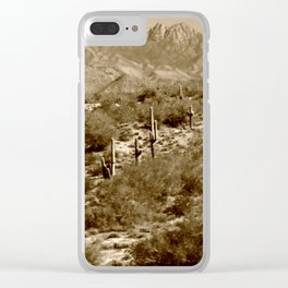 Tonto National Forest and Four Peaks Clear iPhone Case