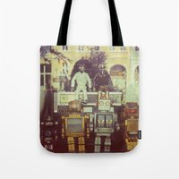 robots Tote Bags featuring Robots by GF Fine Art Photography